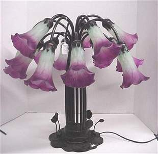 Table Lamp with 15 Trumpet Flower Lights