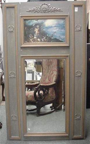 Painted Sheraton Style Picture Mirror