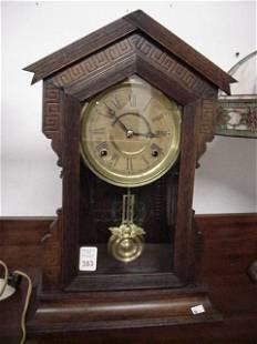 Ingraham Walnut Cased Shelf Clock