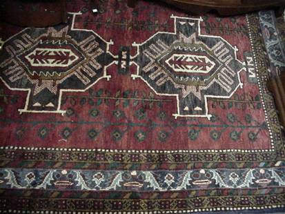 Hand Knotted All Wool Shiraz Rug: 35781