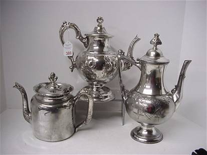 Mayo, Columbia and Meridan Victorian Teapots