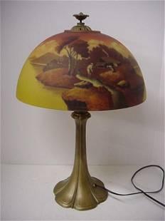 Unsigned Moe Bridges or Phoenix Lamp