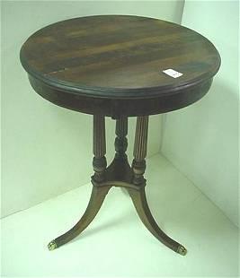 . Mahogany Three Legged Side Table