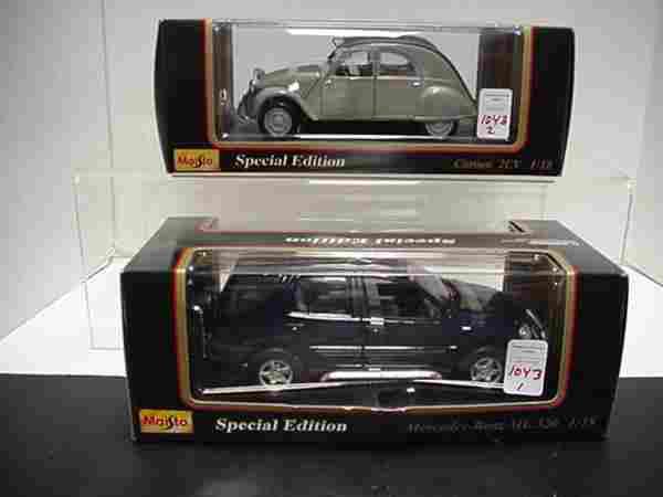 2 Diecast Metal 1/18 Scale Model Cars