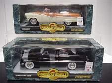 1103: 2 Diecast Metal 1/18 Scale Model Cars: