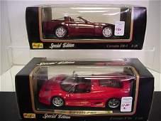 1130: 2 Diecast Metal 1/18 Scale Model Cars: