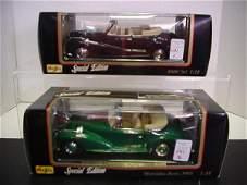 1131: 2 Diecast Metal 1/18 Scale Model Cars: