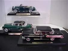 1164: 3 Diecast Metal 1:18 Scale Model Cars:
