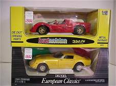 1332: 2 Diecast Metal 1:18 Scale Model Cars: