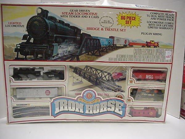 1437: Bachmann HO Iron Horse Train Set.