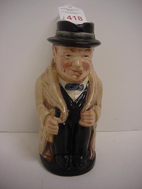 418: Royal Doulton Winston Churchill Toby Pitcher: