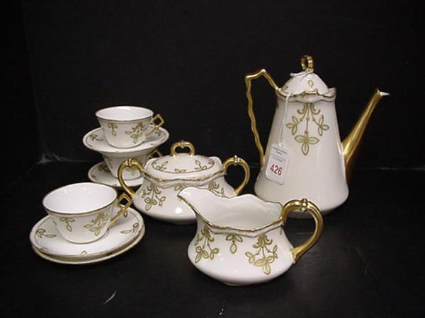 426: 9 Piece Limoges B & H Tea Set: