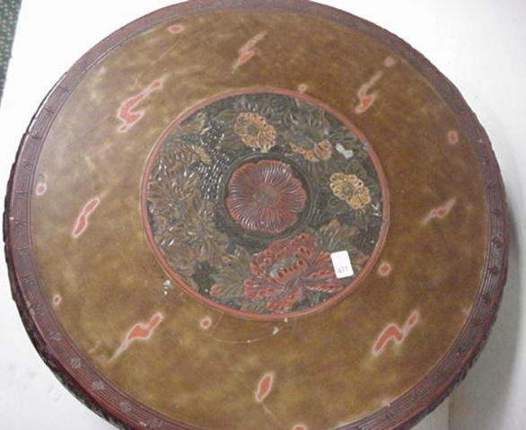471: Vintage Oriental Round Table: