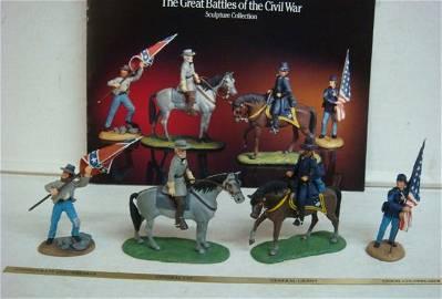 SHEPERD PAINE, GREAT BATTLES OF CIVIL WAR, 4 Figurines