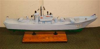 JP SPRUILL, FOLK ART MODEL USS NEWPORT NEWS, CA 148: