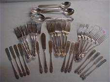 Thirty Five Pieces Sterling Silver Flatware: