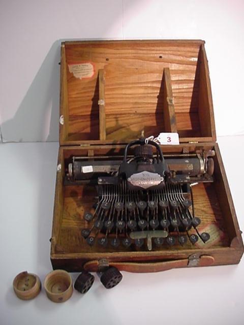 3: BLICKENSDERFER Model 5 Portable Typewriter: