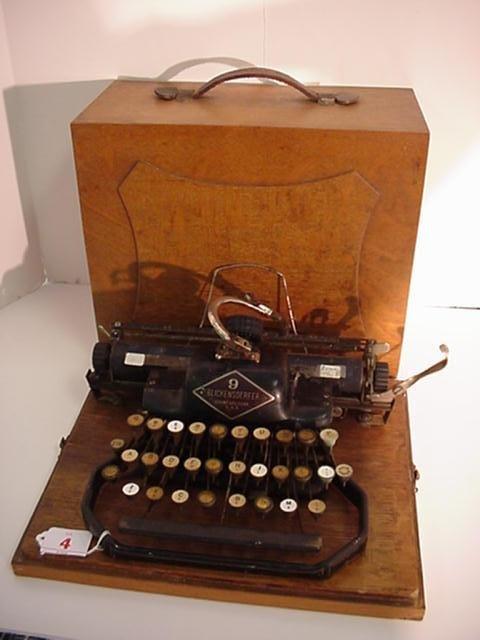 4: BLICKENSDERFER Model 9 Portable Typewriter: