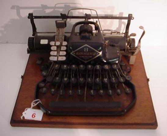 6: BLICKENSDERFER Model 8 Portable Typewriter: