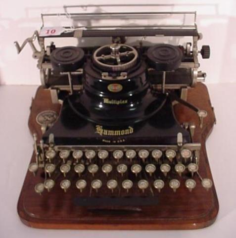 10: HAMMOND MULTIPLEX Antique Typewriter:
