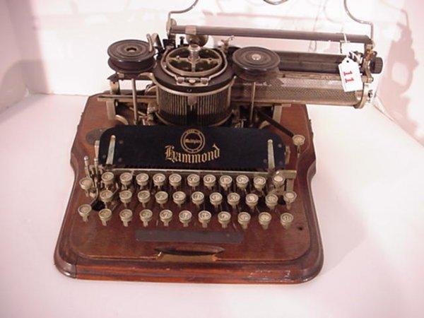 11: HAMMOND Multiplex Antique Typewriter