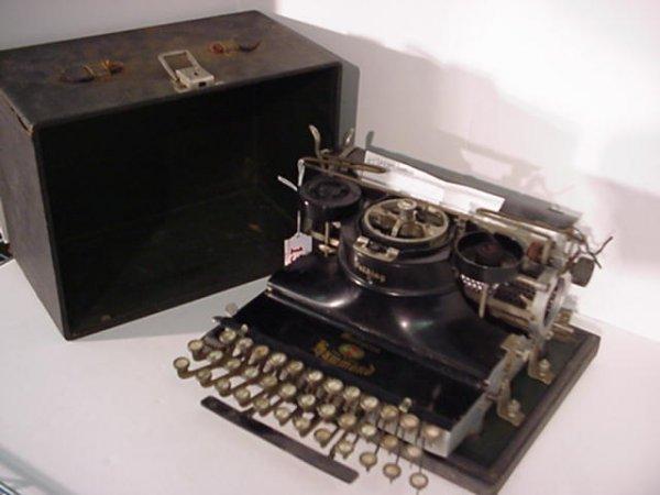 13: HAMMOND Folding Multiplex Portable Typewriter: