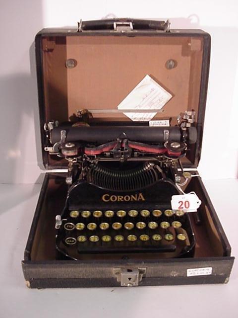 20: CORONA Folding Model 3 Portable Typewriter