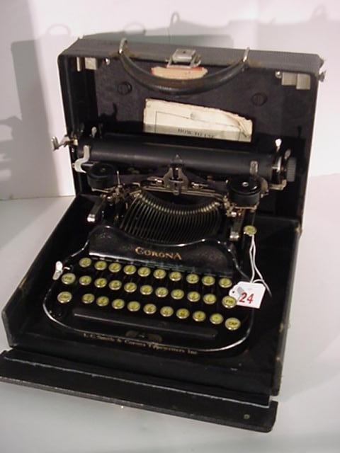 24: CORONA Folding Portable Typewriter: