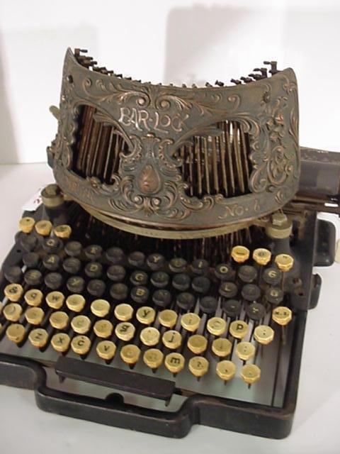 25: BARLOCK Model 6 Desk Typewriter: