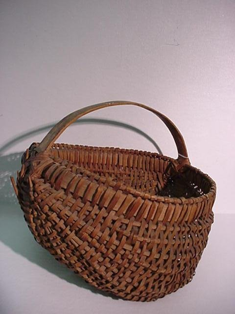 401: 2 Hand Woven Buttocks Baskets: