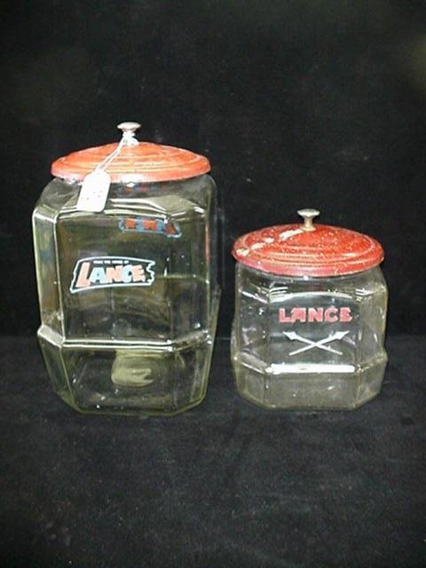 403: 2 Lance Cracker Jars with Lids: