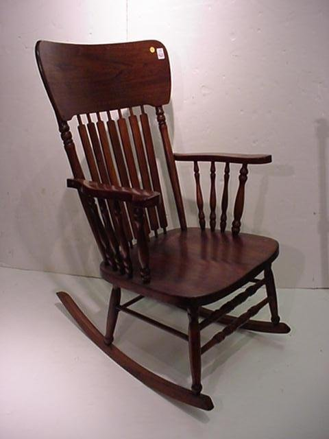 415: Arrowback Wooden Arm Chair Rocker: