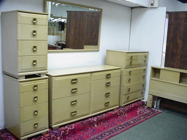 505: 1950u0027s MENGEL Furniture 6 Piece Bedroom Set: