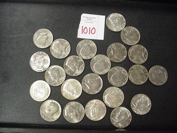 1010: 23 US Collectible Kennedy Half Dollar Coins: