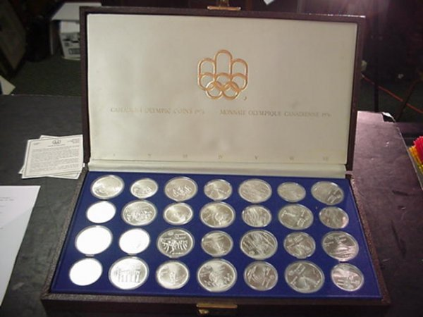 1091: 1976 Canada Olympic Coins 28 Silver Coins: