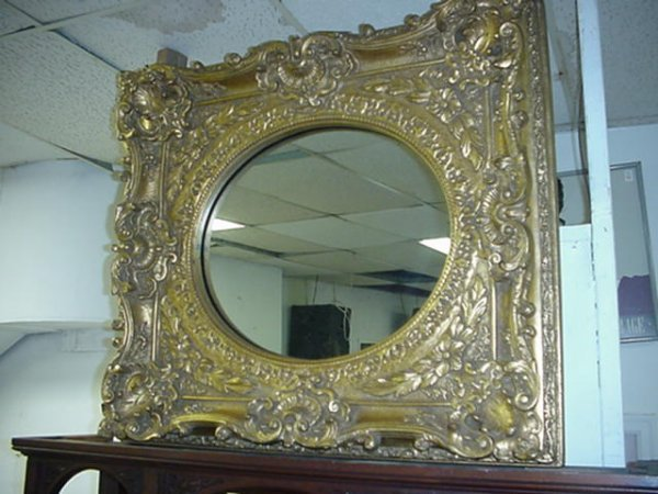 6: Exquisite Gold Framed Wall Mirror:
