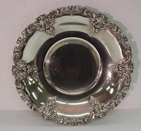 12: WALLACE Sterling Silver Round Bowl: