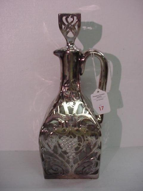 17: BLACK, STARR and FROST .999 Silver Overlay Decanter