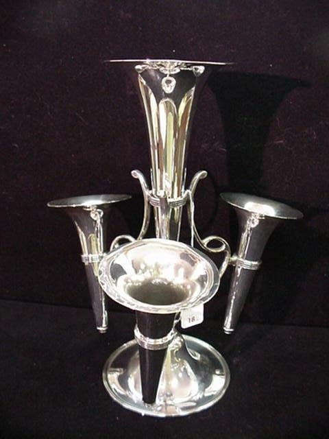 18: FR and COMPANY Silver Plate Epergne:
