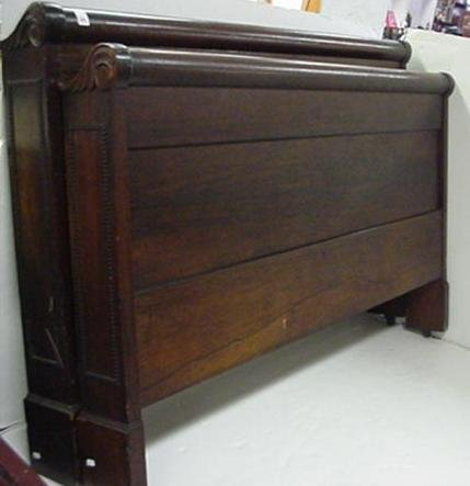 721: Antique Rosewood Sleigh Bed: