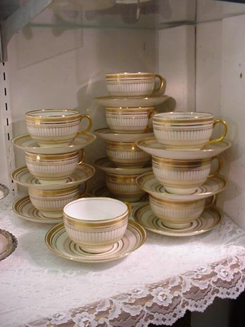 750: 11 ROYAL DOULTON Cups and Saucer Sets, Some TIFFAN