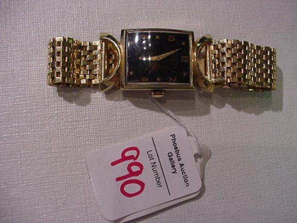 990: HAMILTON Robert Model 14KT Gents Wrist Watch: