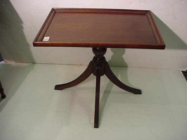 994: Petite Mahogany Side Table:
