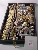 1222 Collection of Costume Jewelry Some Signed