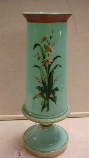 Very Fine Hand painted Bristol Glass Vase: