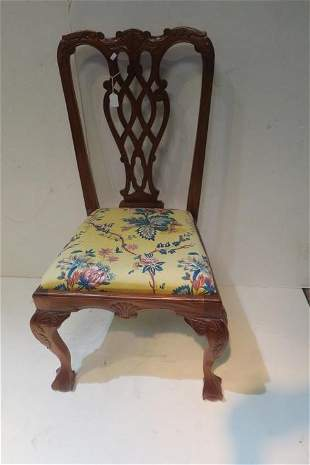 Chippendale Style Side Chair:
