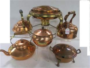 Copper Kettles, Pots and Chafing Dishes: