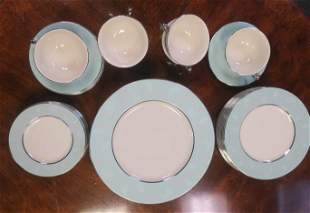 """CASTLETON CHINA """"CORSAGE"""" Service for Six Dinnerware:"""
