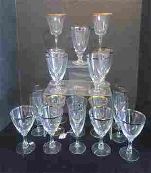"FOSTORIA ""Wedding Ring"" Crystal Stemware:"