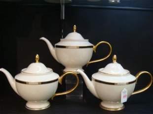 "Three LENOX ""Hancock"" Presidential Collection Teapots:"